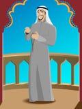 Lächelnder erfolgreicher arabischer Mann Stockbild