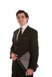 Lächelnder erfolgreicher Geschäftsmann Stockfoto