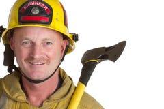 Lächelnder Feuerwehrmann Stockfoto