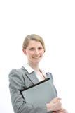 Lächelnder freundlicher Büroangestellter Lizenzfreies Stockfoto