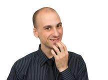 Lächelnder Geschäftsmann Stockbild