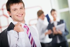 Lächelnder Geschäftsmann Lizenzfreie Stockfotografie