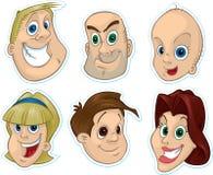 Lächelnder Gesichts-Kühlraum-Magnet #1 Stockfoto