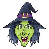 Lächelnder Halloween-Hexen-Charakter Stockbild