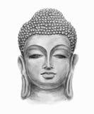 Lächelnder Hauptbuddha Lizenzfreies Stockfoto
