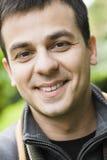 Lächelnder indischer Mann Stockfotografie