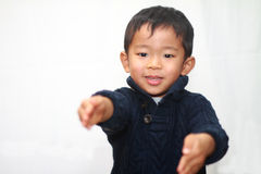Lächelnder japanischer Junge Stockfoto