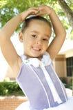 Lächelnder junger Balletttänzer Stockfoto