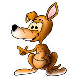 Lächelnder Känguru Lizenzfreie Stockbilder