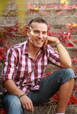 Lächelnder Kerl Stockfoto