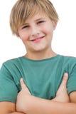 Lächelnder kleiner blonder Junge Stockfotografie