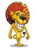Lächelnder Löwe der Karikatur Stockfotos
