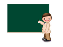 Lächelnder Lehrer Stock Abbildung