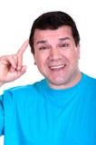 Lächelnder Mann mit 100 Rechnungen Lizenzfreies Stockbild
