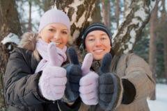 Lächelnder Mann und Frau Stockbild