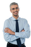 Lächelnder Mitte gealterter Geschäftsmann lizenzfreie stockfotos