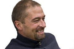 Lächelnder mittlerer gealterter Mann lizenzfreies stockbild