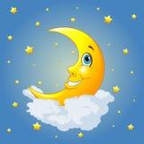 Lächelnder Mond lizenzfreie abbildung