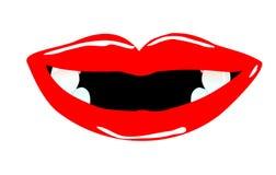 Lächelnder Mund mit Zahnlücken Stockfotografie