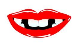 Lächelnder Mund mit Zahnlücken Lizenzfreie Stockfotografie