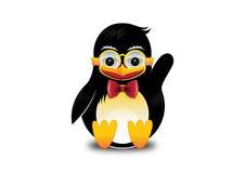 Lächelnder Pinguin bewegt wellenartig Stockfoto