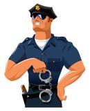 Lächelnder Polizist Lizenzfreie Stockfotografie