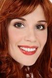 Lächelnder Redhead stockbilder