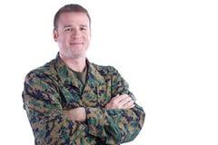 Lächelnder Soldat Stockbild