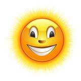 Lächelnder Sun Lizenzfreie Stockfotos