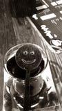 Lächelnder Tee lizenzfreie stockfotos