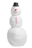 Lächelnder voller Schneemann Stockfoto