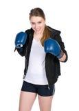 Lächelnder weiblicher Boxer der Junge Lizenzfreies Stockfoto