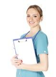 Lächelnder weiblicher Doktor lizenzfreies stockbild