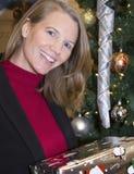 Lächelnder weiblicher Feiertag Lizenzfreie Stockfotos