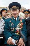 Lächelnder Weltkriegveteran Shishkin V.I. Lizenzfreie Stockbilder