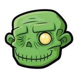 Lächelnder Zombiekopf 2 stockbilder
