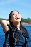 Lächelndes asiatisches Mädchen Stockbild