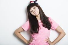 Lächelndes asiatisches Mädchen Lizenzfreie Stockbilder