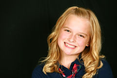 Lächelndes blondes Kind Lizenzfreies Stockbild