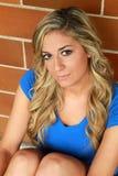 Lächelndes blondes Mädchen Lizenzfreie Stockbilder