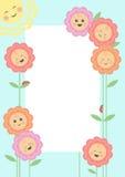 Lächelndes Blumenfeld Stockbild