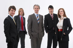 Lächelndes businessteam lizenzfreie stockbilder