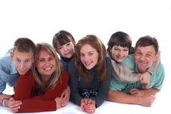 Lächelndes Familien-Portrait Stockfoto