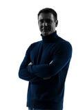 Lächelndes freundliches Schattenbildporträt des Mannes Lizenzfreies Stockfoto