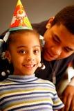 Lächelndes Geburtstag-Mädchen Stockbild
