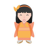 lächelndes Geishakimonodiadem Stockbilder