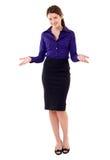 Lächelndes Geschäftsfraubegrüßen stockbilder
