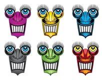 Lächelndes Geschöpfgesicht mit großen Augen Lizenzfreie Stockbilder