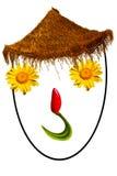 Lächelndes Gesicht gebildet mit Blumen Lizenzfreie Stockfotos