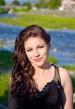 Lächelndes hübsches Mädchenporträt Stockbild
